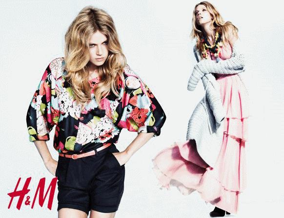 Ein Model präsentiert die H&M Damenmode