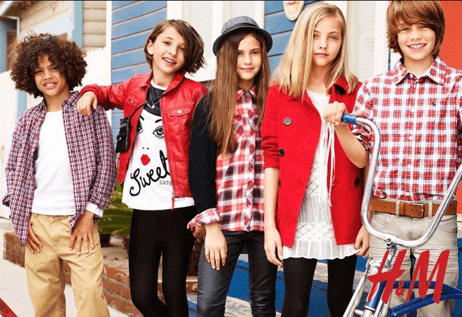 Kinder in der H&M Mode