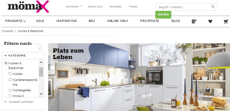 Küchenmöbel bei mömax