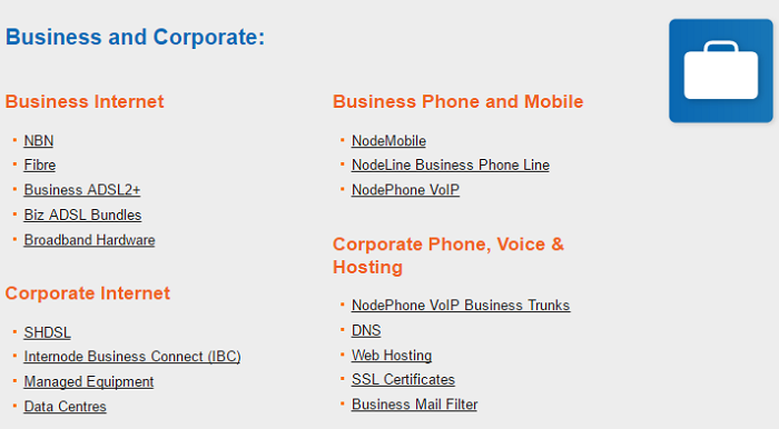 Business offer at Internode