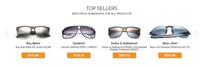 Top sellers at Vision Direct