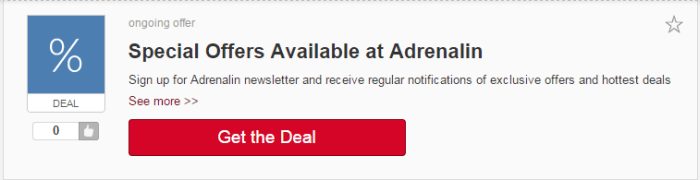 get the Adrenalin's deal