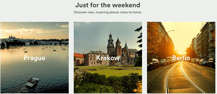 Weekend getaway? No problem!