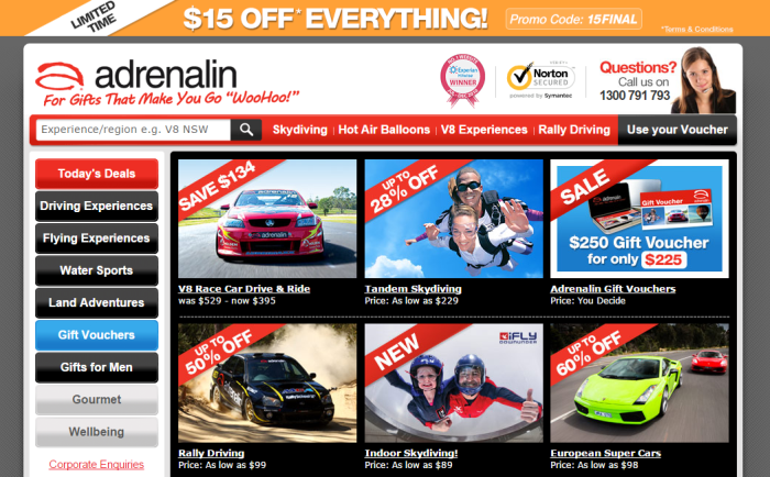 Adrenalin's coupon codes and deals