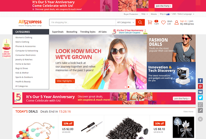 Aliexpress coupon codes