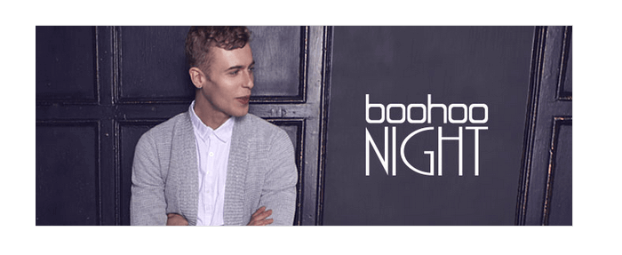 Boohoo's men's night collection