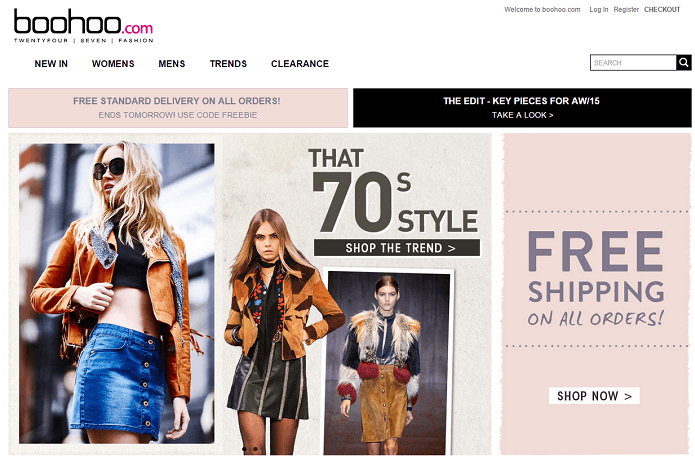 shop with Boohoo promotion codes
