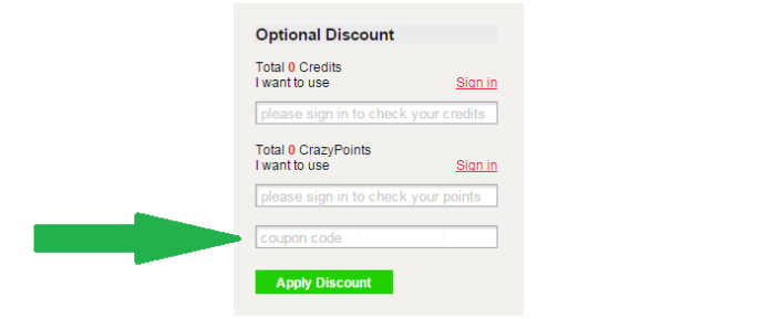 save even more by entering Crazy Sales coupon code