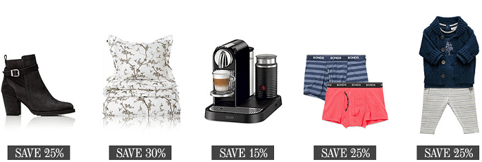 at David Jones' online shop you can save on fashion, footwear and homeware