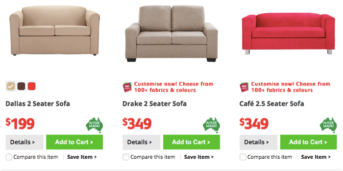 Sofas made by Fanstastic Furniture