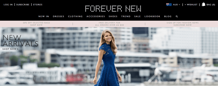 use promo codes to shop at Australian Forever New