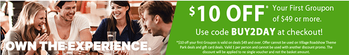Promo codes at Groupon