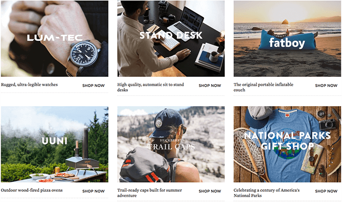 Special offers at Huckberry