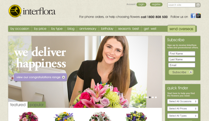 Interflora coupon codes