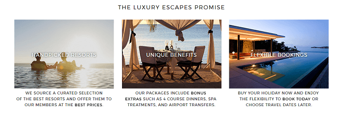 The Luxury Escapes promise