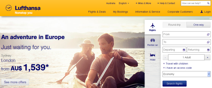Travel with Lufthansa!