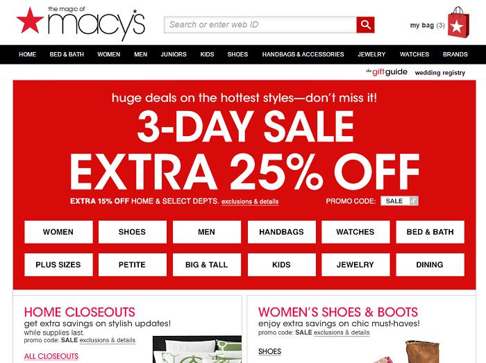 Macy's front online shop