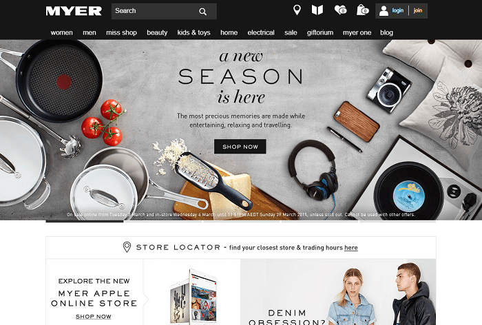 shop with Myer coupon codes