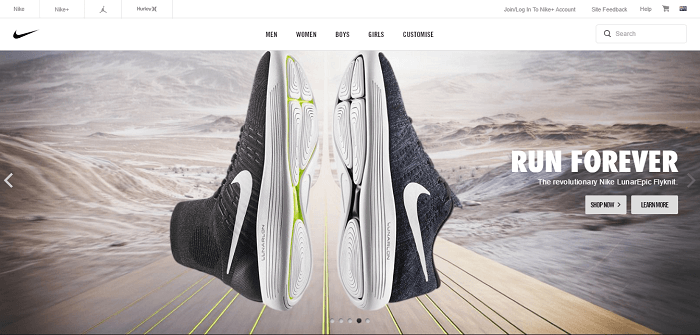Be active with Nike