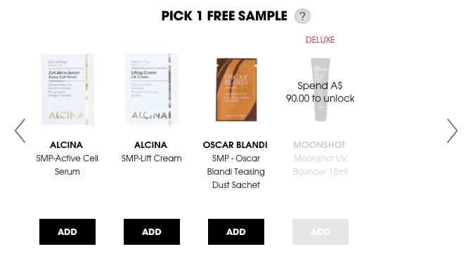 Free samples! Yeah!