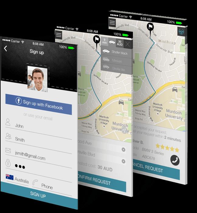 Shofer mobile app