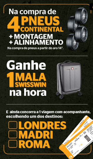 promo o pneu continental embarque na troca m o de vaca. Black Bedroom Furniture Sets. Home Design Ideas