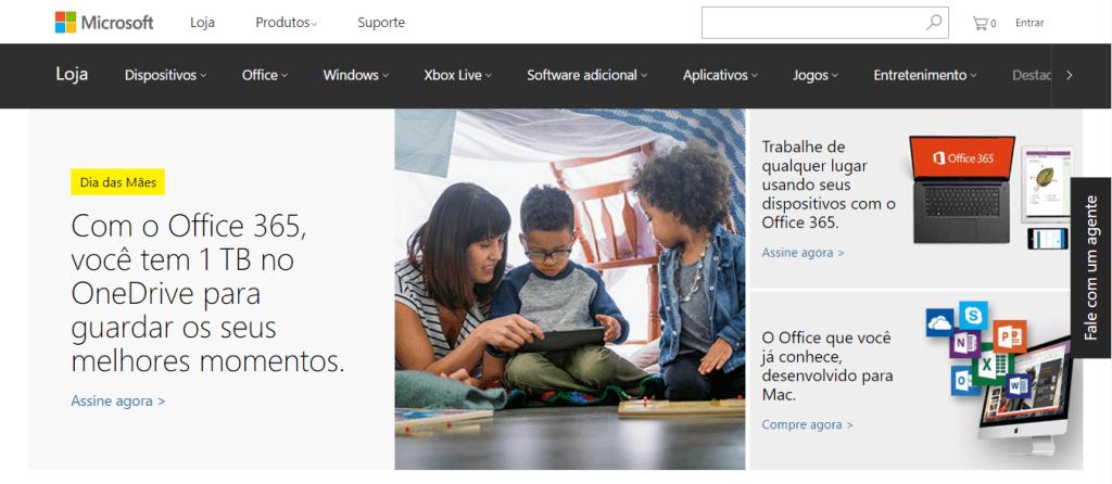 Pagina Inicial Microsoft Store