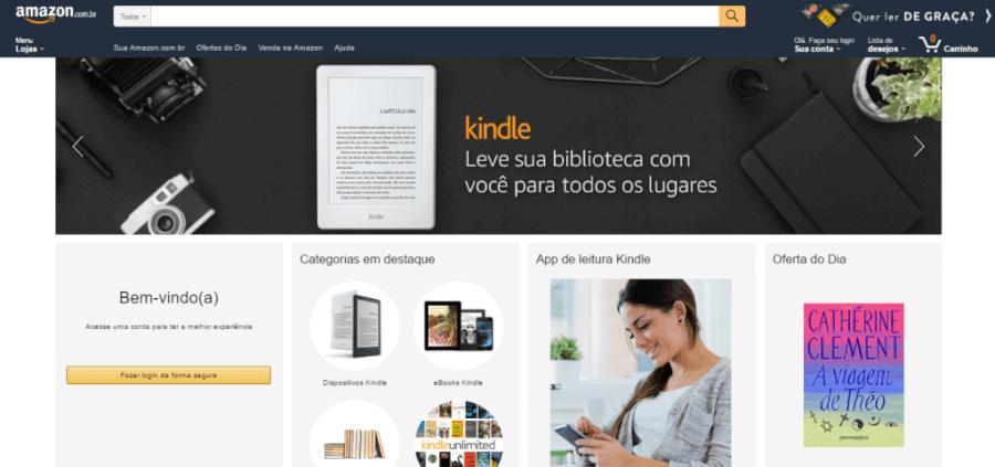 Pagina Inicial Amazon
