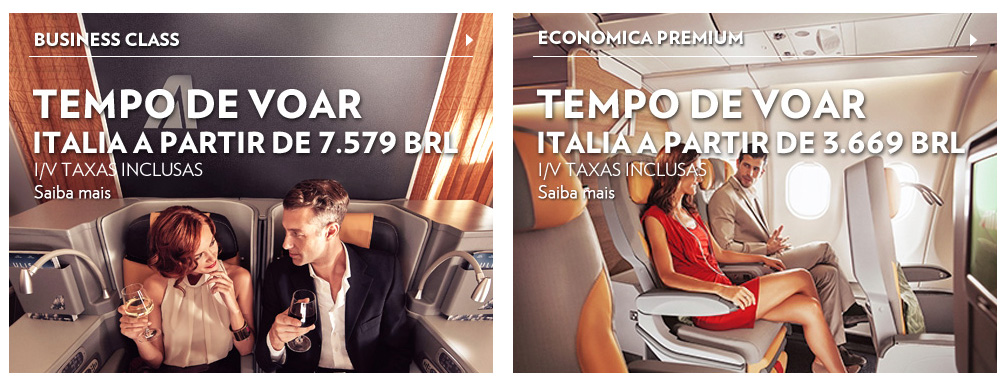 Alitalia Exemplos de Classes Disponíveis