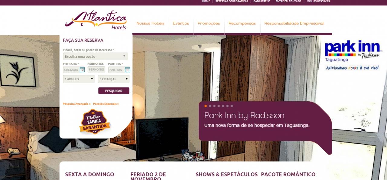 Atlantica Hotels página principal