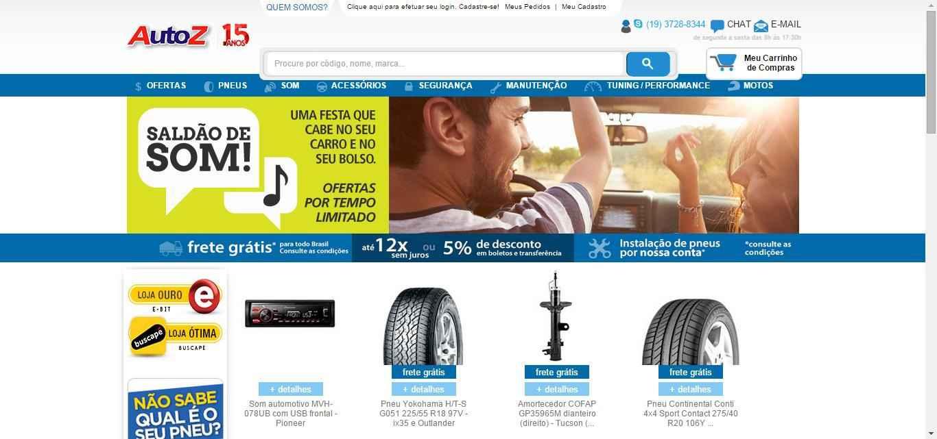 imagem da pagina inicial AutoZ