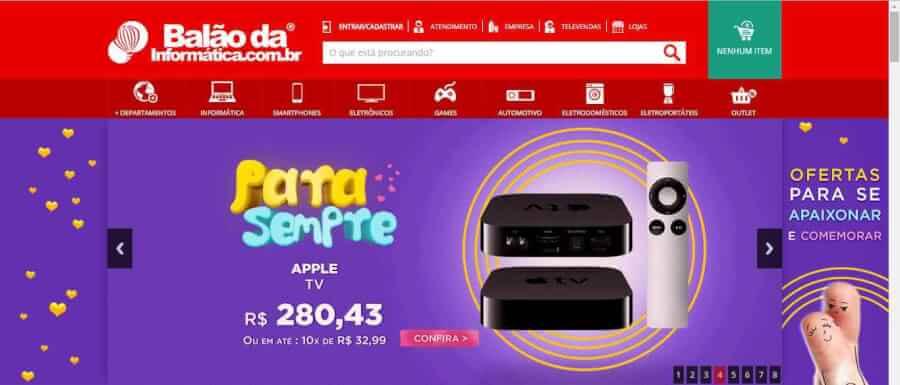 Imagem promocional Balao da Informatica