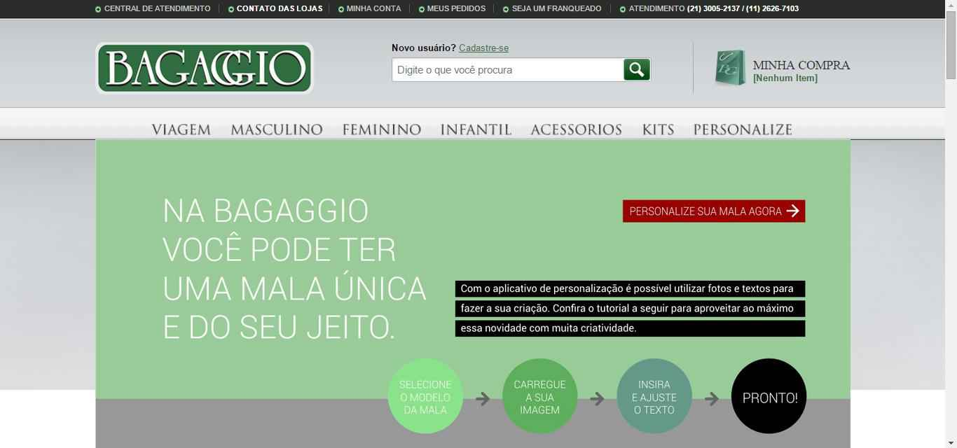 imagem da Mala Personalizada Bagaggio