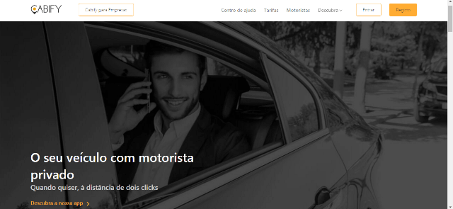 Pagina Inicial Cabify