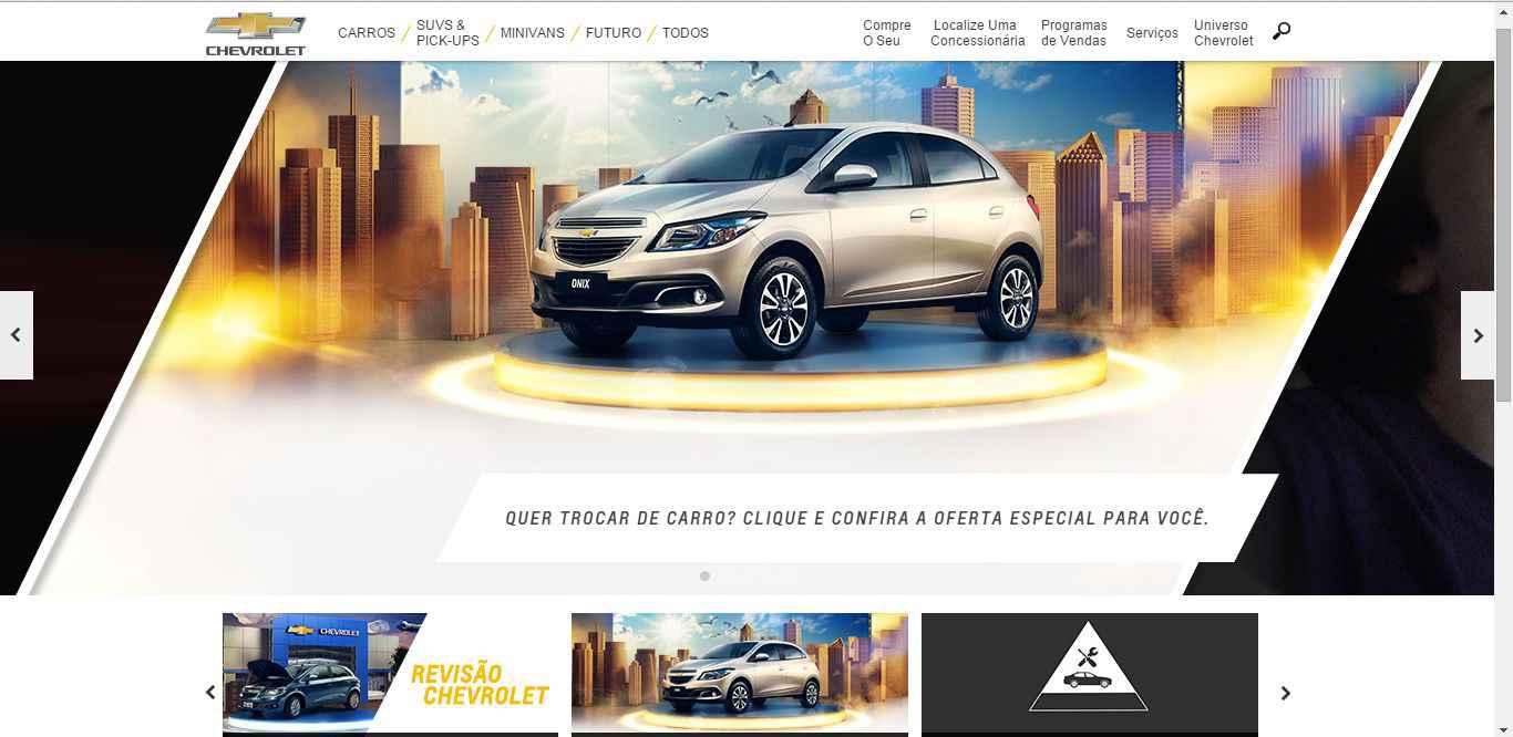 Imagem promocional Chevrolet