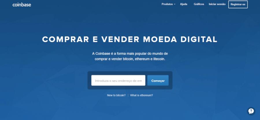 Pagina Inicial CoinBase