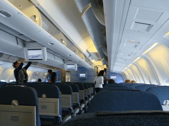Interior das aeronaves Condor
