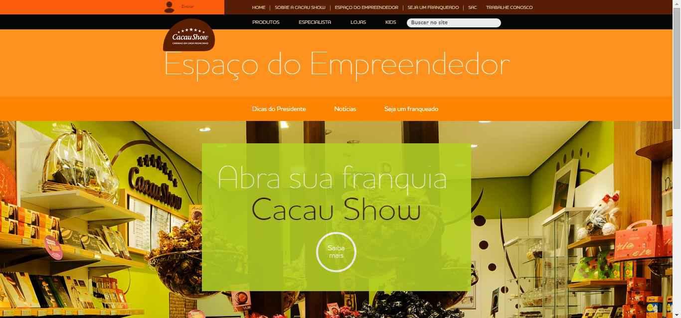 Franquias Cacau Show