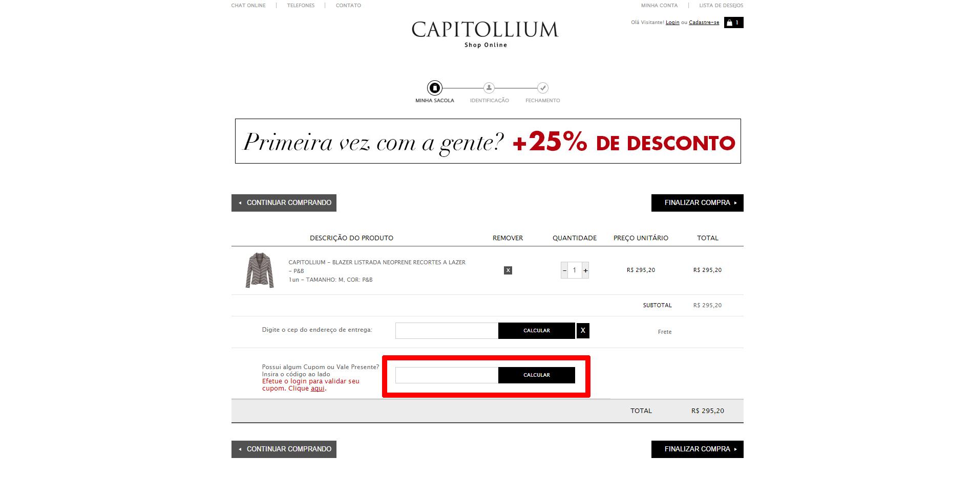 Capitollium Cupom
