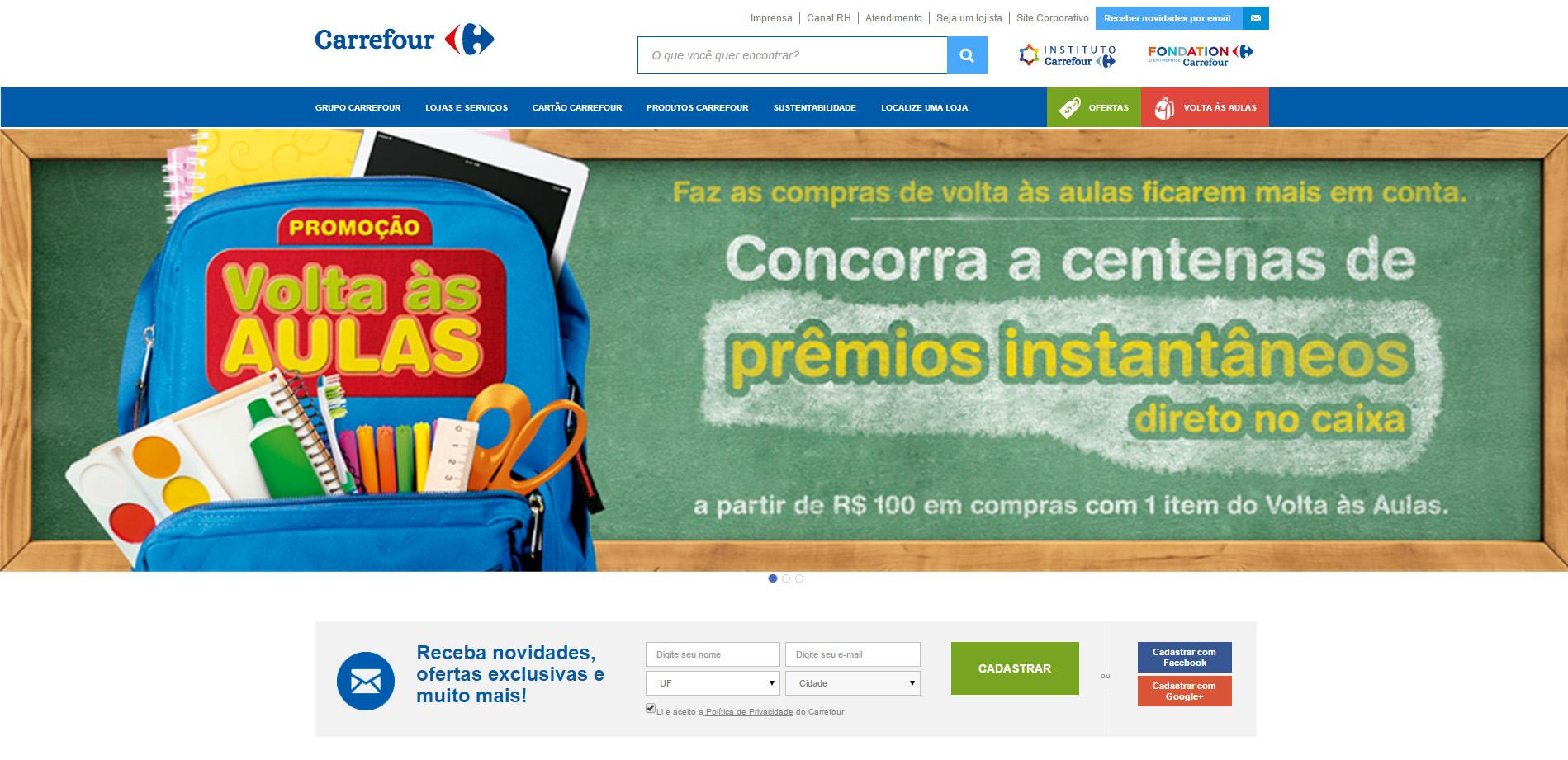 Página Principal Carrefour
