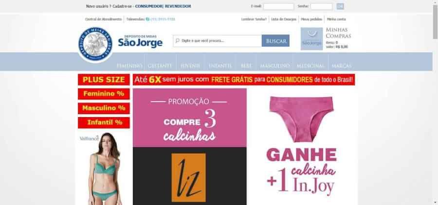 imagem da pagina inicial Deposito de Meias Sao Jorge
