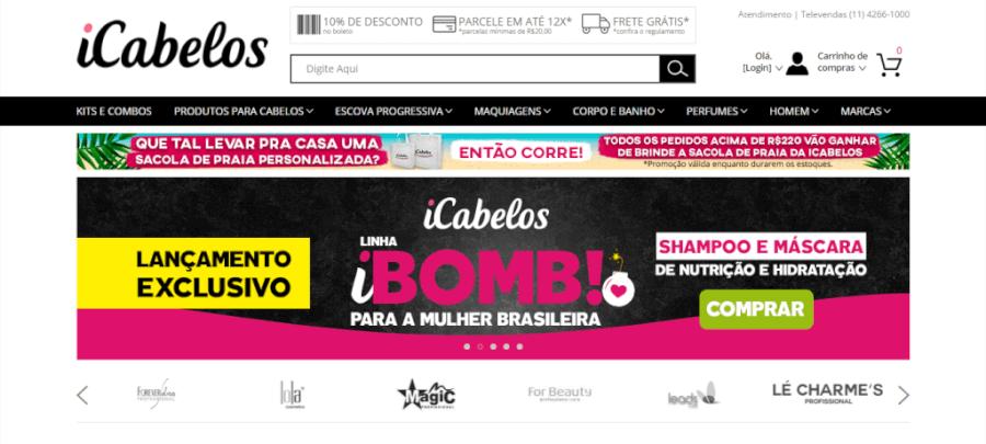 Pagina Inicial iCabelos