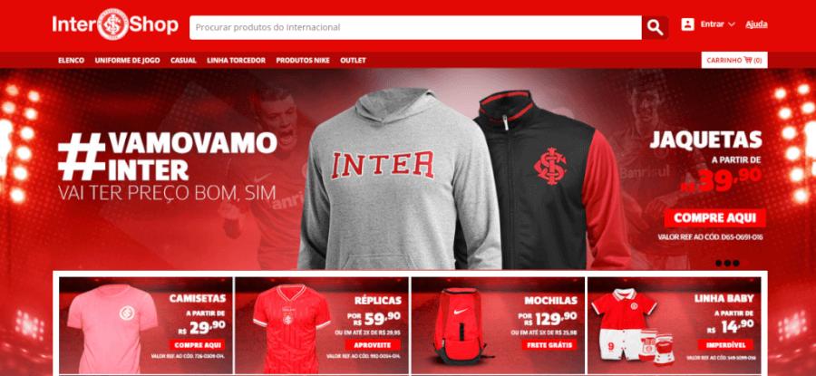 Pagina Inicial Loja do Inter