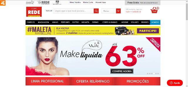 Pagina Inicial Lojas Rede