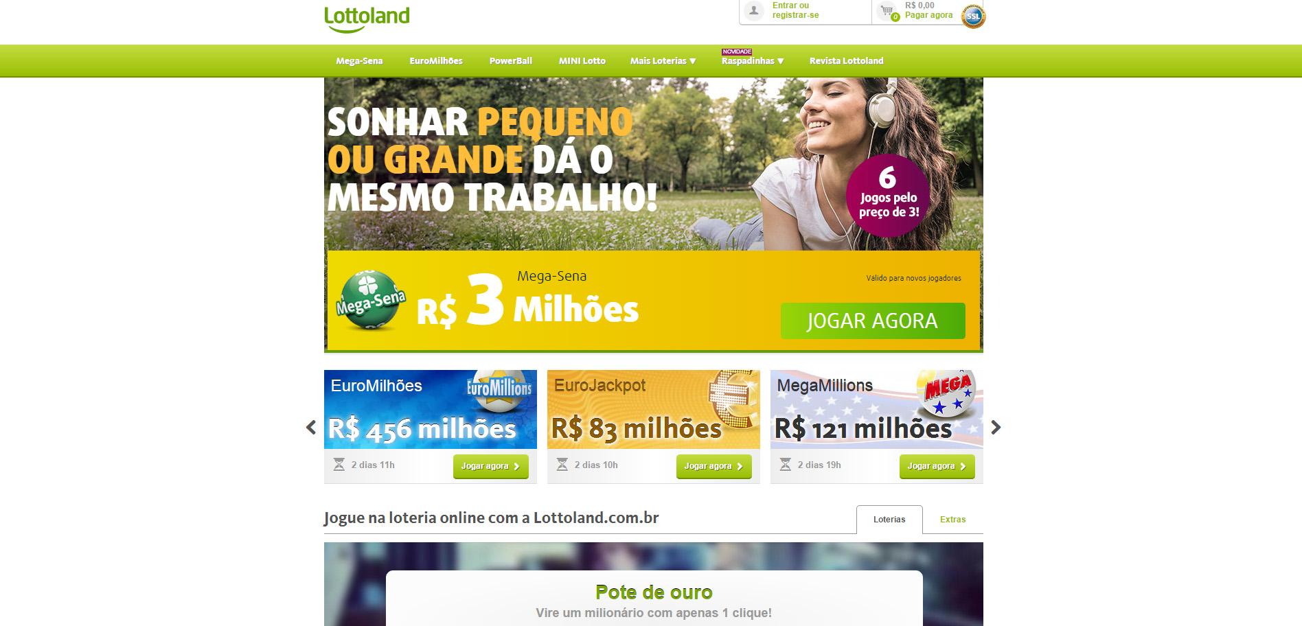 Lottoland Página Inicial