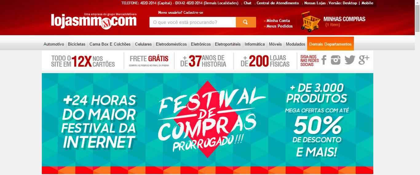 paginainicial LojasMM