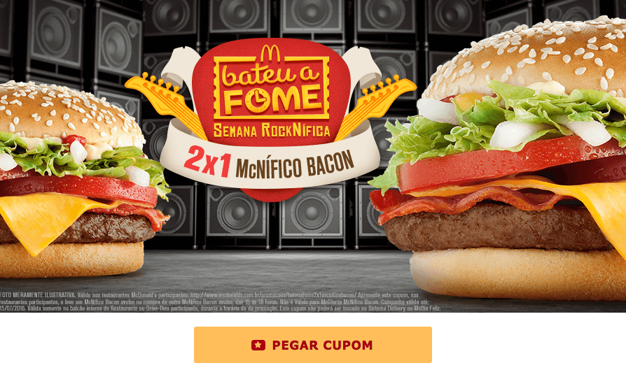 Cupom McDonalds 2016