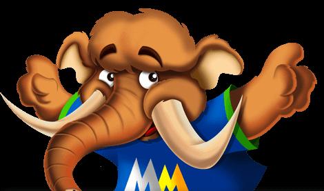 Mascote Mega Mamute