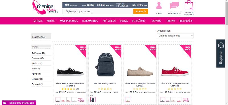 Menina Shoes Produtos