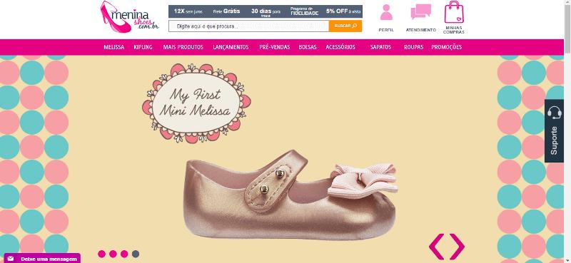 Pagina Inicial Menina Shoes